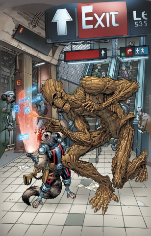 Guardians of the Galaxy #27 (Bradshaw NYC Cover)