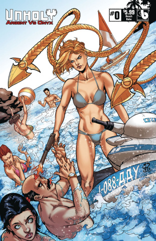 UnHoly: Argent vs. Onyx #0 (Beach Babe Cover)