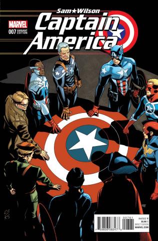 Captain America: Sam Wilson #7 (Cap of All Eras Cover)