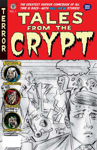 Tales From the Crypt #1 (Haspiel Cover)