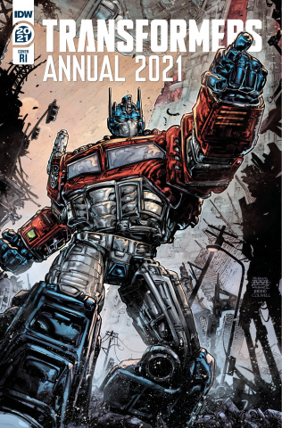 The Transformers Annual 2021 (10 Copy Freddie Williams Cover)