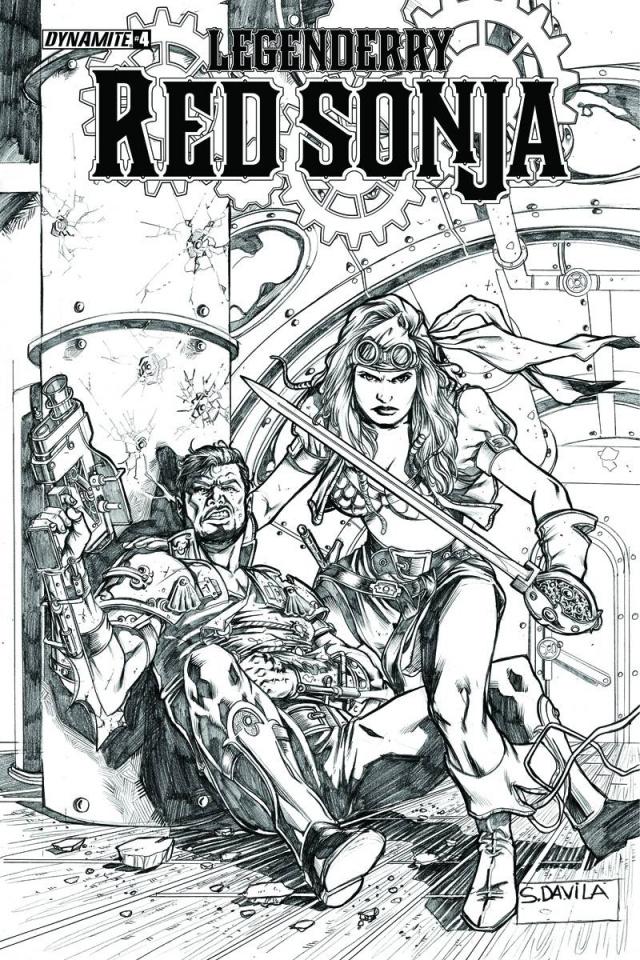 Legenderry: Red Sonja #4 (10 Copy Davila B&W Cover)