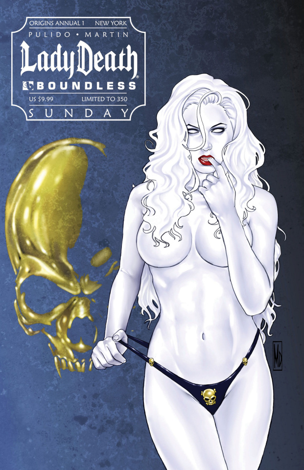 Lady Death Origins Annual #1 (New York Sunday Cover)