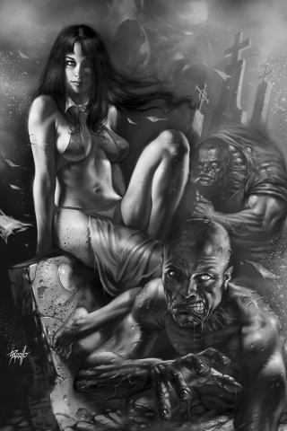 Vengeance of Vampirella #7 (25 Copy Parrillo B&W Virgin Cover)