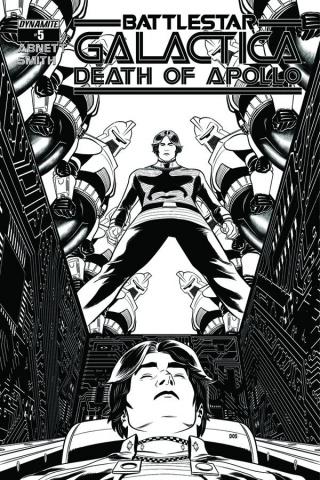 Battlestar Galactica: Death of Apollo #5 (10 Copy Smith B&W Cover)