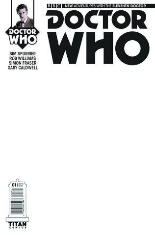 Doctor Who: New Adventures with the Eleventh Doctor, Year Two #1 (Blank Sketch Cover)