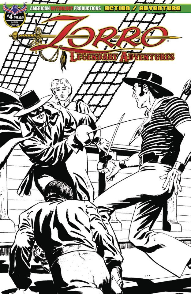 Zorro: Legendary Adventures #4 (Blazing Blades of Zorro Cover)