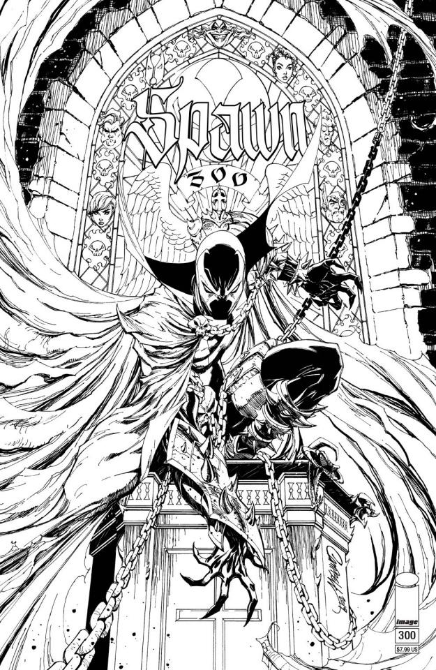 Spawn #300 (Campbell B&W Cover)