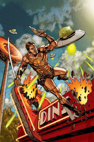 Warlord of Mars Attacks #3 (30 Copy Johnson Virgin Cover)