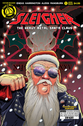 Sleigher: The Heavy Metal Santa Claus #1 (Fleecs Cover)