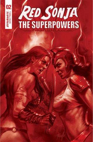 Red Sonja: The Superpowers #2 (Parrillo Crimson Red Art Cover)