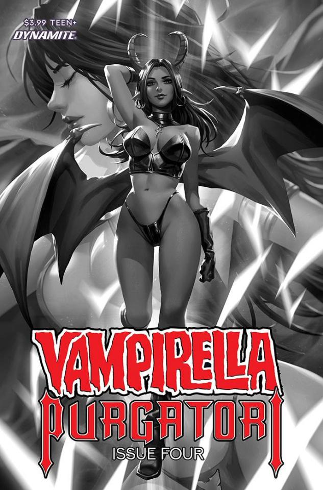 Vampirella vs. Purgatori #4 (30 Copy Chew B&W Cover)