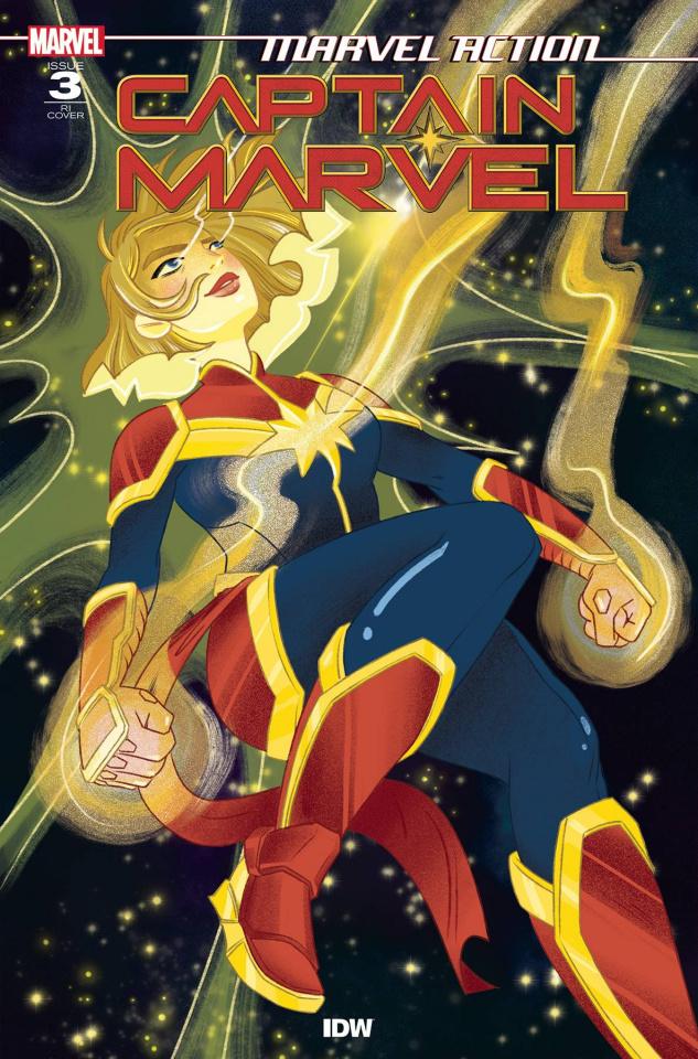 Marvel Action: Captain Marvel #3 (10 Copy Nicole Goux Cover)