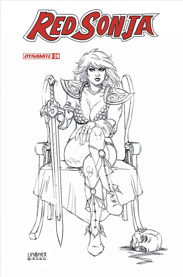 Red Sonja #24 (15 Copy Linsner B&W Cover)