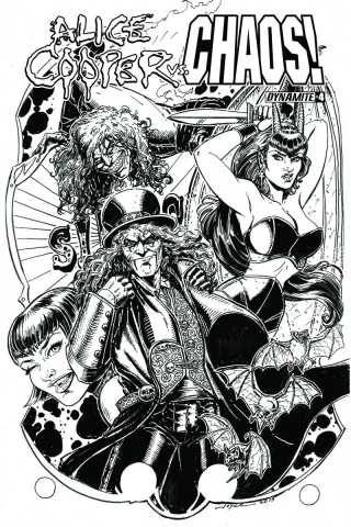 Alice Cooper vs. Chaos! #4 (15 Copy B&W Cover)