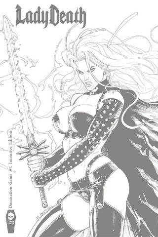 Lady Death: Damnation Game #1 (Ortiz 10 Copy Cover)