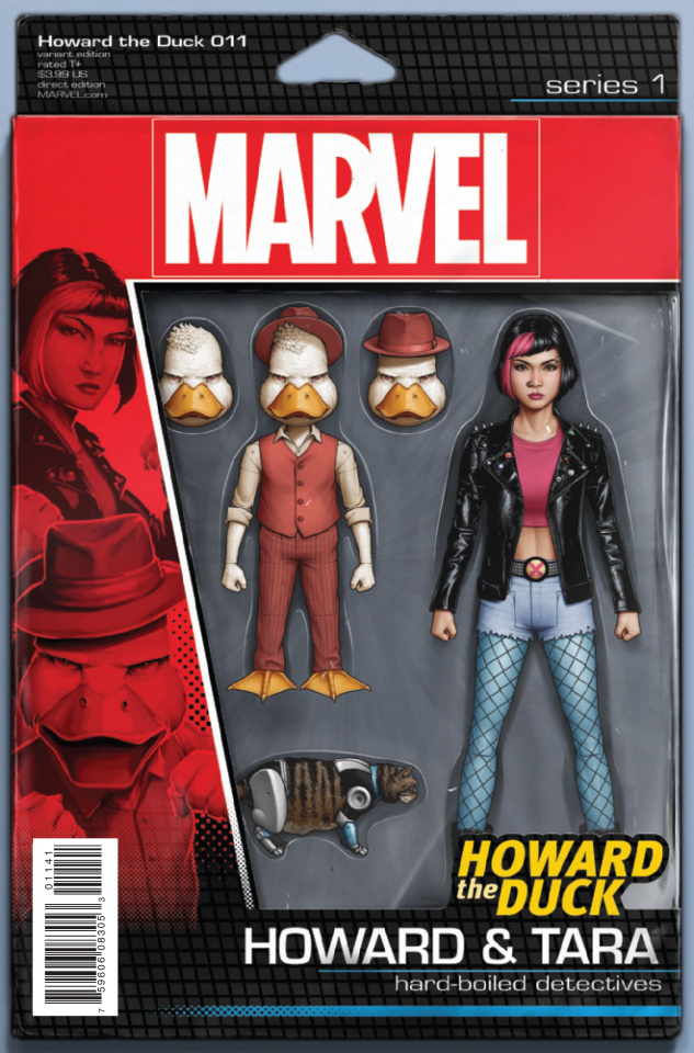 Howard the Duck #11 (Christopher Action Figure Cover)