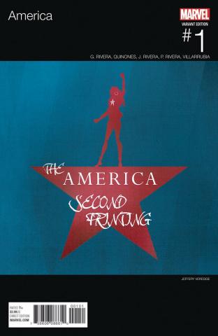 America #1 (2nd Printing Veregge Hip Hop Cover)
