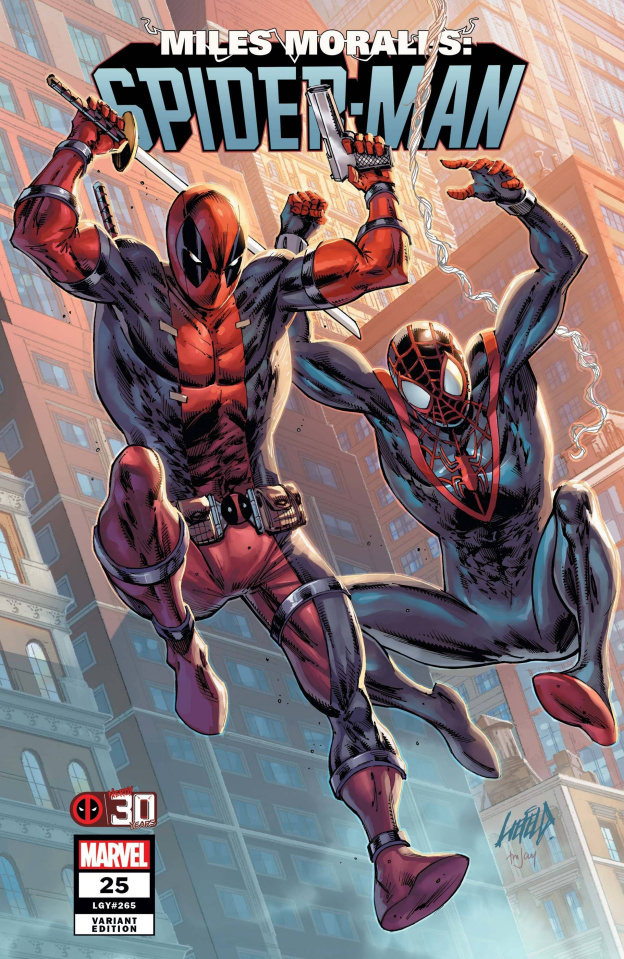 Miles Morales: Spider-Man #25 (Liefeld Deadpool 30th Anniversary Cover)