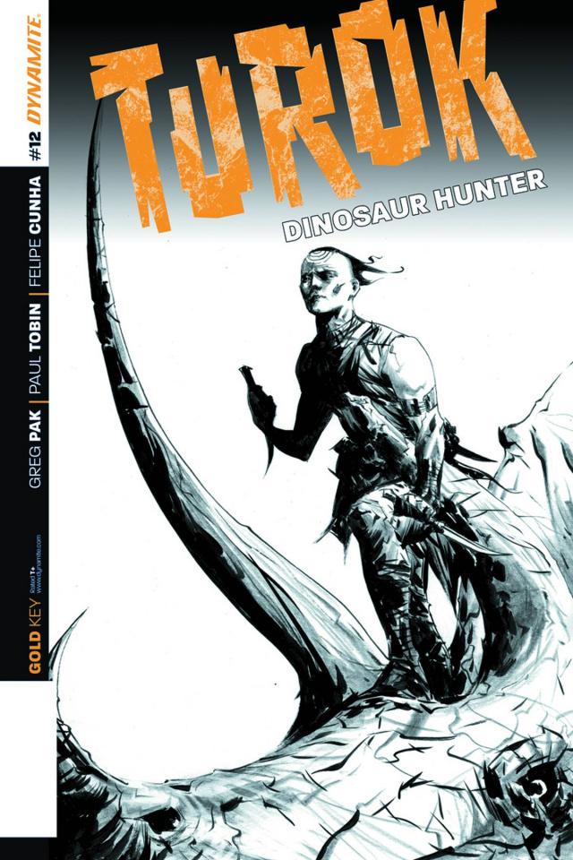 Turok: Dinosaur Hunter #12 (25 Copy Lee B&W Cover)