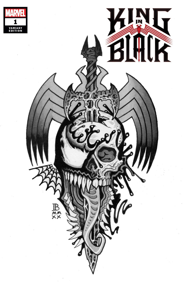 King in Black #1 (Bederman Tattoo Cover)