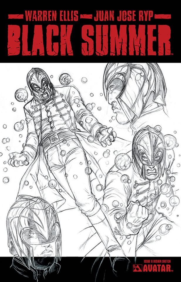 Black Summer #0 (Design Sketch Cover)