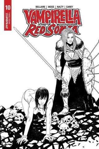 Vampirella / Red Sonja #10 (10 Copy Moss B&W Cover)
