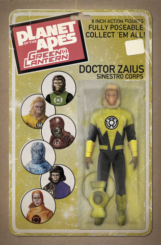 The Planet of the Apes / The Green Lantern #2 (Unlock Action Figure Cover)