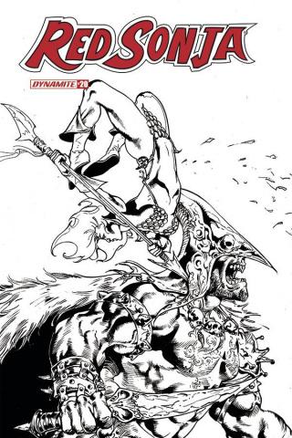 Red Sonja #20 (11 Copy Castro B&W Cover)