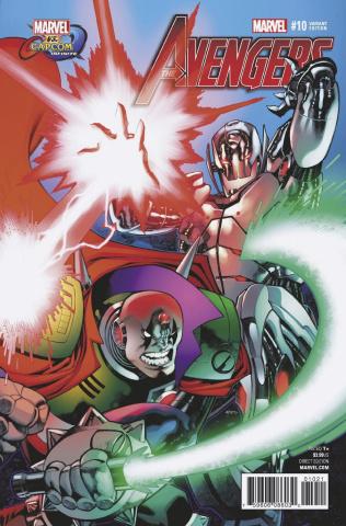 Avengers #10 (Stevens Marvel vs. Capcom Cover)
