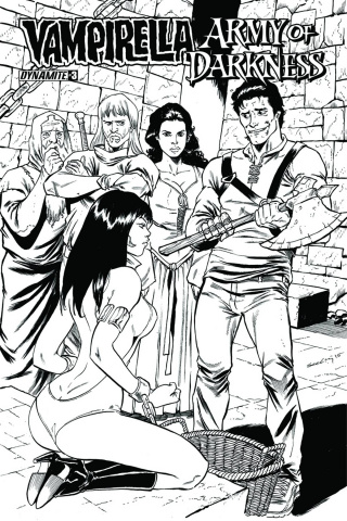 Vampirella / Army of Darkness #3 (10 Copy Cover)