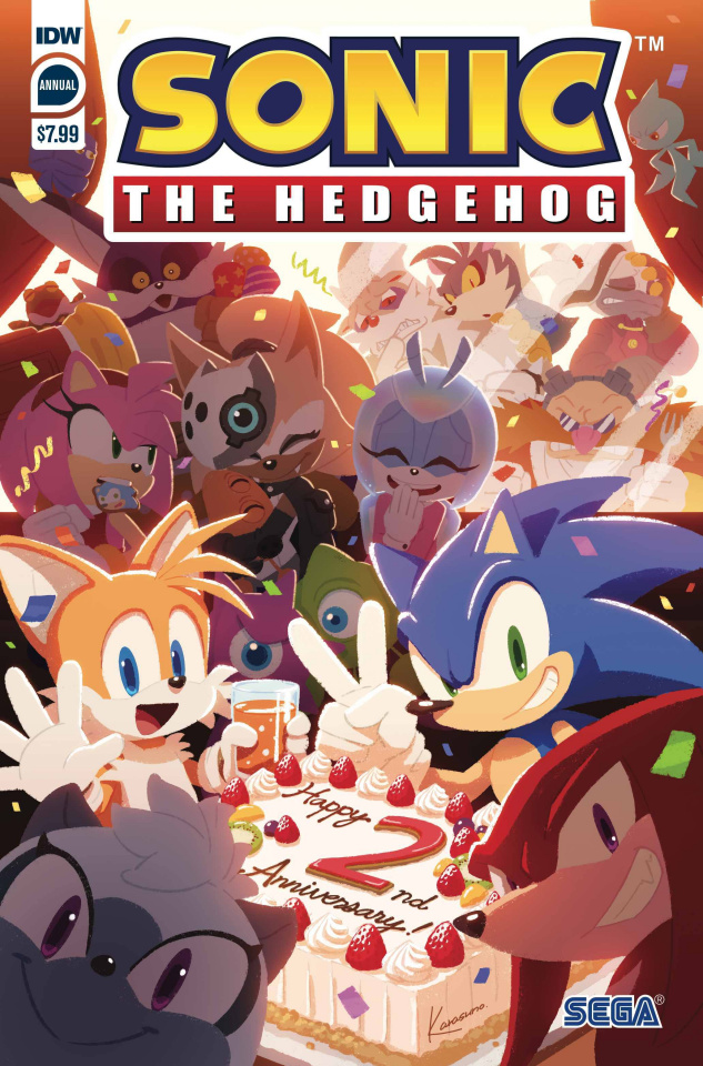 Sonic the Hedgehog Annual 2020 (Sonic Team Cover)