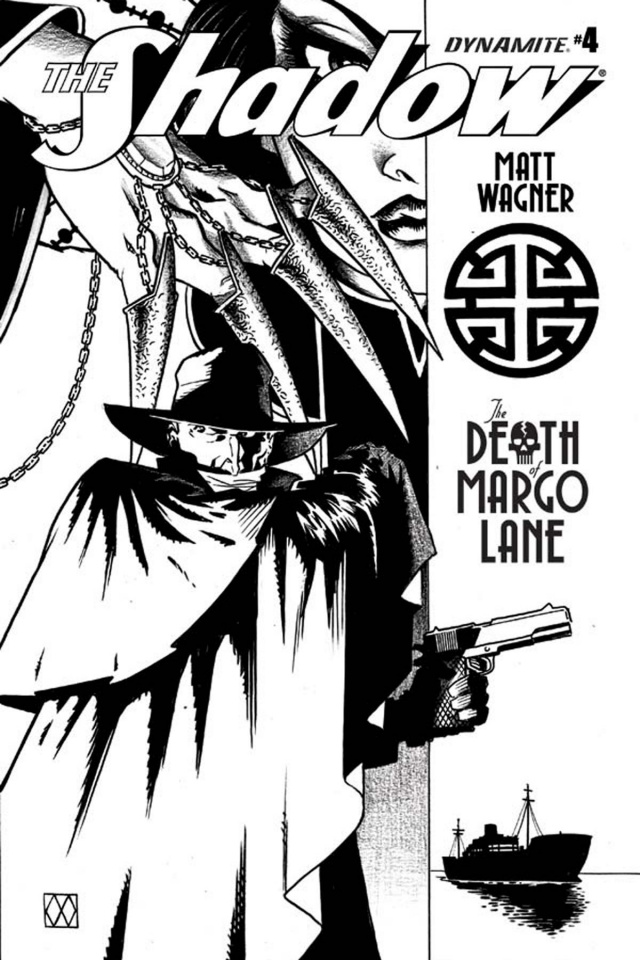The Shadow: The Death of Margo Lane #4 (10 Copy B&W Cover)