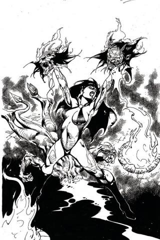 Vengeance of Vampirella #11 (21 Copy Castro B&W Virgin Cover)