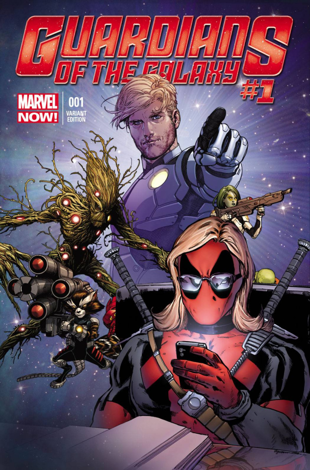 Guardians of the Galaxy #1 (Texts From Deadpool Cover)