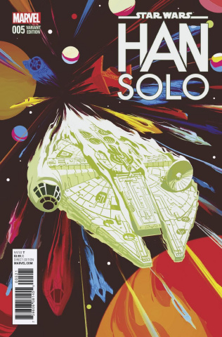 Star Wars: Han Solo #5 (Del Mundo Millennium Falcon Cover)