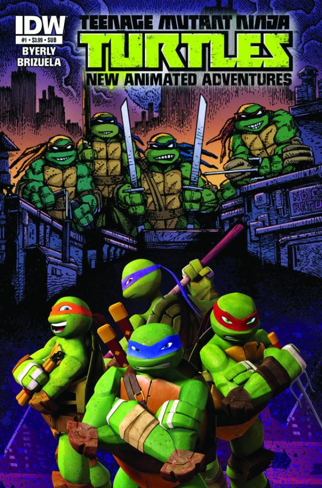 Teenage Mutant Ninja Turtles: New Animated Adventures #1 (Subscription Cover)