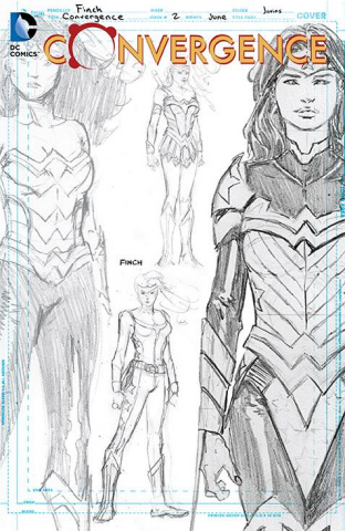 Convergence #2 (Wonder Woman Sketch Cover)