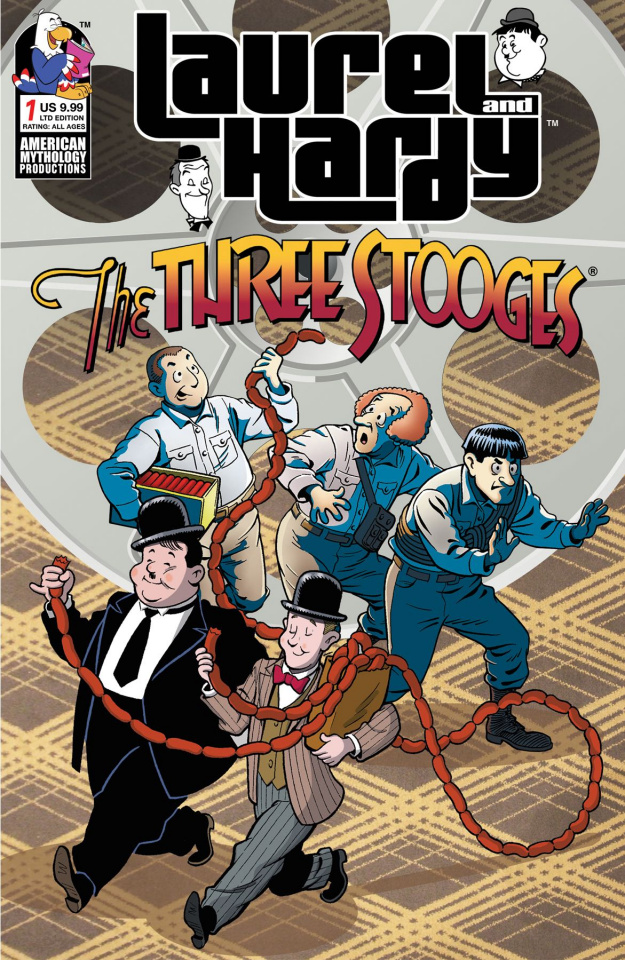 Laurel and Hardy Meet The Three Stooges #1 (Class Cartoon Cover)