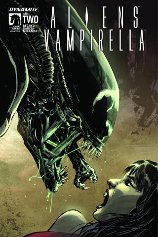 Aliens / Vampirella #2 (Hardman Cover)