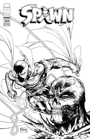 Spawn #304 (B&W McFarlane Cover)