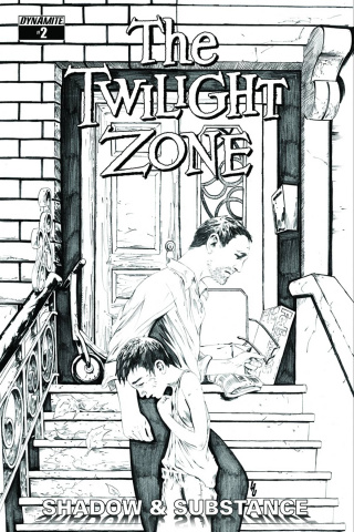 The Twilight Zone: Shadow & Substance #2 (20 Copy Lau B&W Cover)