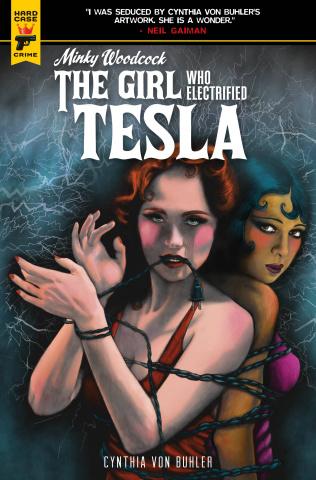 Minky Woodcock: The Girl Who Electrified Tesla #4 (Buhler Cover)