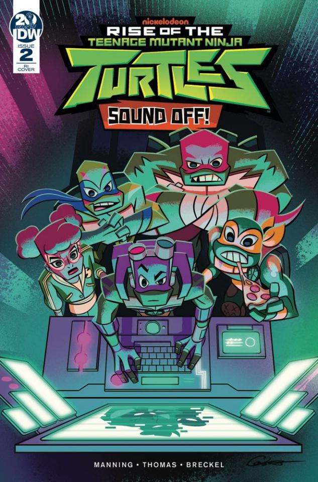Rise of the Teenage Mutant Ninja Turtles: Sound Off #2 (10 Copy Caltsoudas Cover)