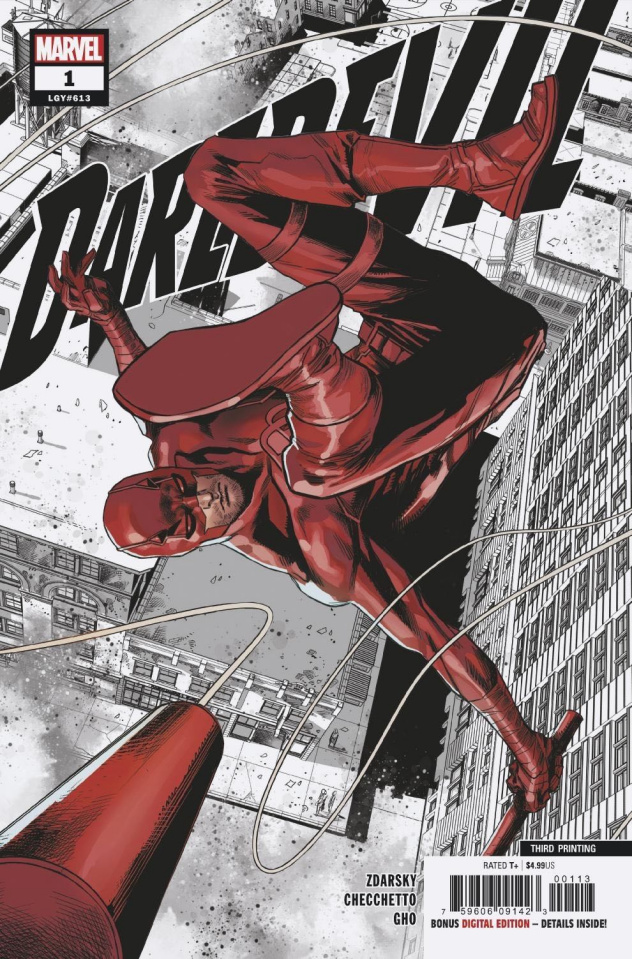 Daredevil #1 (Checchetto 3rd Printing Cover)