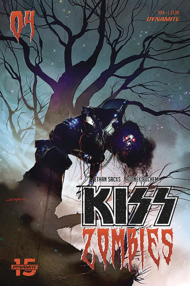 KISS: Zombies #4 (Sayger Cover)