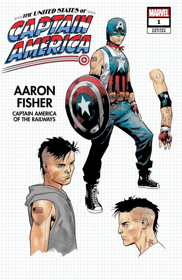The United States of Captain America #1 (Bazaldua Design Cover)