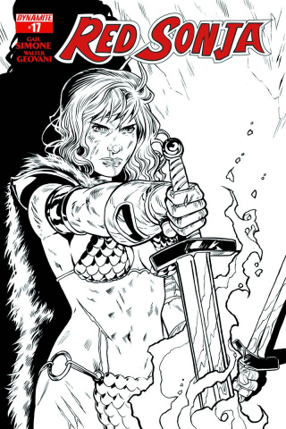 Red Sonja #17 (25 Copy Isaacs B&W Cover)