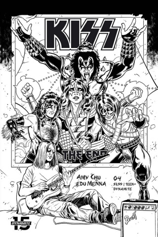 KISS: The End #4 (20 Copy Schoonover B&W Cover)