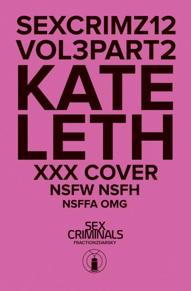 Sex Criminals #12 (Kate Leth XXX Cover)